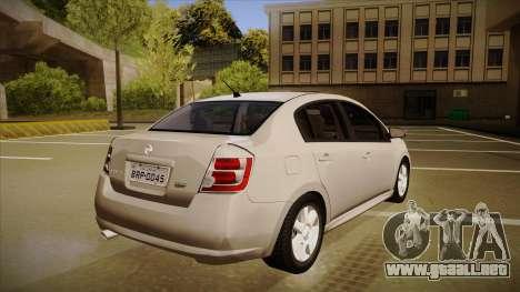 Nissan Sentra S 2008 para la visión correcta GTA San Andreas