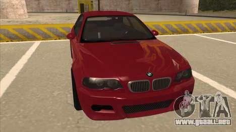 BMW M3 Tuned para GTA San Andreas left