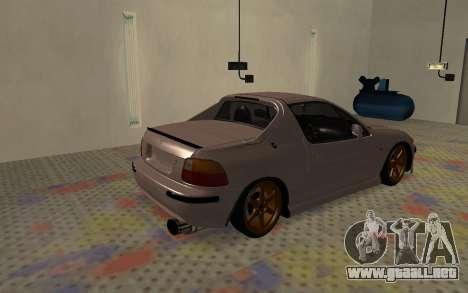 Honda CRX DelSol TMC para GTA San Andreas vista posterior izquierda