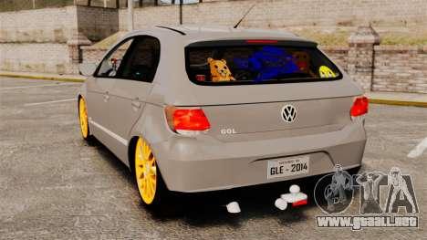 Volkswagen Gol G6 2013 Turbo Socado para GTA 4 Vista posterior izquierda