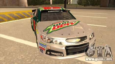 Chevrolet SS NASCAR No. 88 Diet Mountain Dew para GTA San Andreas left