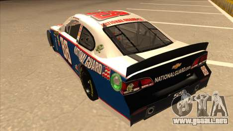 Chevrolet SS NASCAR No. 88 National Guard para GTA San Andreas vista hacia atrás