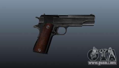 Pistola M1911 v4 para GTA 4 tercera pantalla