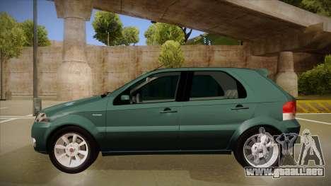 FIAT Palio ELX 2010 para GTA San Andreas vista posterior izquierda