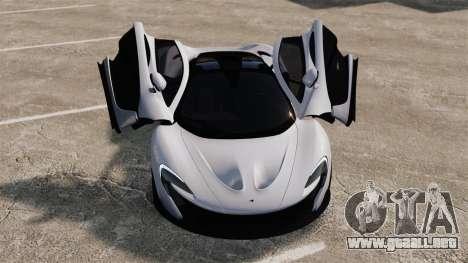 McLaren P1 [EPM] para GTA 4 vista superior