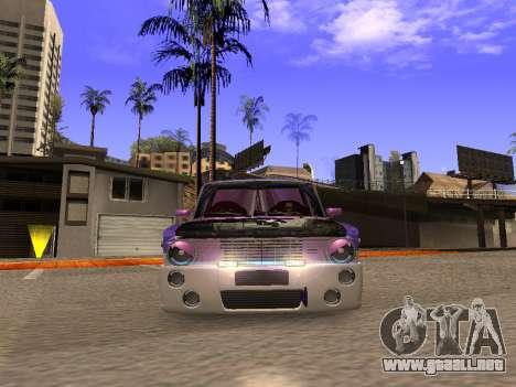 Vaz 2102 divertido flotar para GTA San Andreas vista hacia atrás