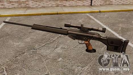 HK PSG10 rifle de francotirador para GTA 4 tercera pantalla