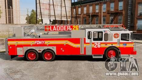 Ferrara 100 Aerial Ladder FDNY 2013 [ELS] para GTA 4 left