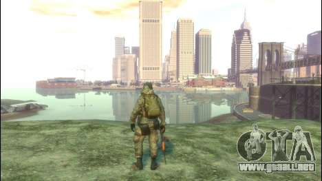 Un soldado ruso v3.0 para GTA 4 adelante de pantalla