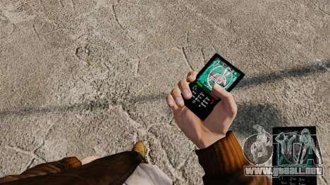 Temas para teléfono Vampire The Masquerade para GTA 4 adelante de pantalla