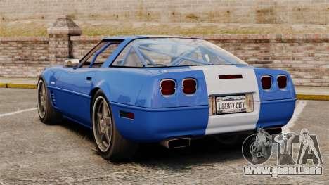 Chevrolet Corvette C4 1996 v2 para GTA 4 Vista posterior izquierda