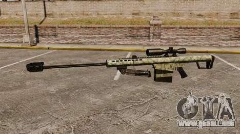 El v8 de rifle de francotirador Barrett M82 para GTA 4 tercera pantalla