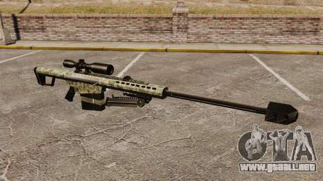 El v8 de rifle de francotirador Barrett M82 para GTA 4