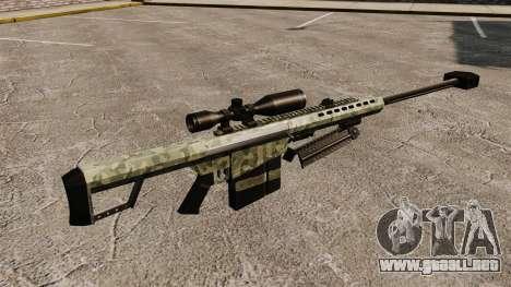 El v6 de rifle de francotirador Barrett M82 para GTA 4 segundos de pantalla
