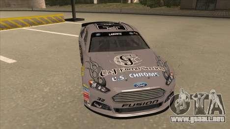Ford Fusion NASCAR No. 32 C&J Energy services para GTA San Andreas left