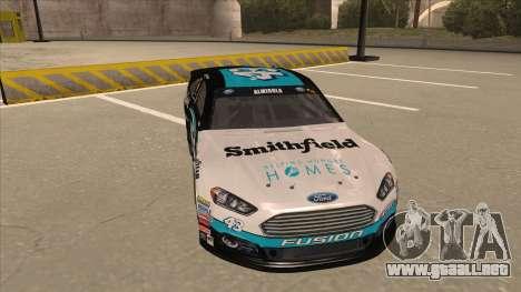 Ford Fusion NASCAR No. 43 Smithfield Foods para GTA San Andreas left