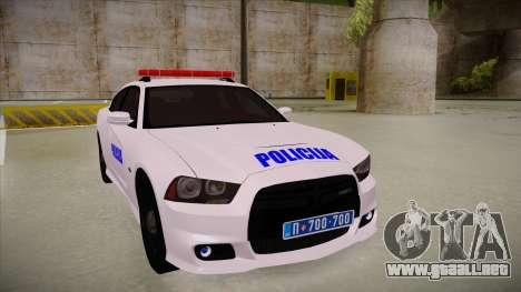 Dodge Charger SRT8 Policija para GTA San Andreas left