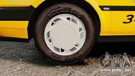 Fiat Tempra SX.A Turkish Taxi para GTA 4 visión correcta