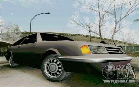 Manana Hatchback para GTA San Andreas vista posterior izquierda