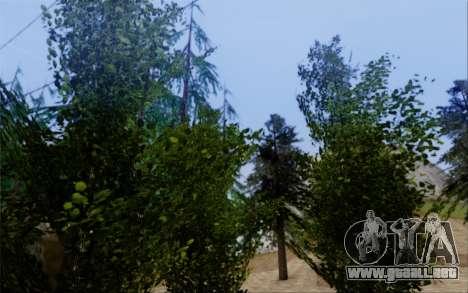 Nueva vegetación 2013 para GTA San Andreas novena de pantalla