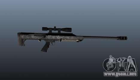 Rifle de francotirador Barrett M99 para GTA 4 tercera pantalla