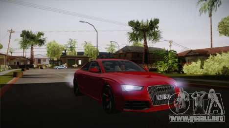 Audi RS5 2012 para visión interna GTA San Andreas