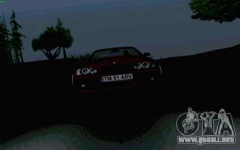BMW M3 Cabrio para GTA San Andreas vista hacia atrás
