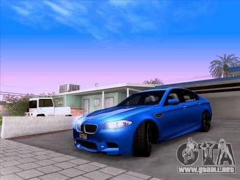 BMW M5 F10 2012 Autovista para GTA San Andreas vista hacia atrás