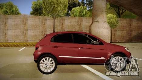 VW Gol Power 1.6 2009 para GTA San Andreas vista posterior izquierda