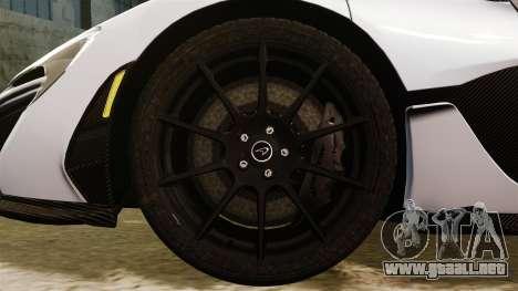 McLaren P1 [EPM] para GTA 4 vista hacia atrás