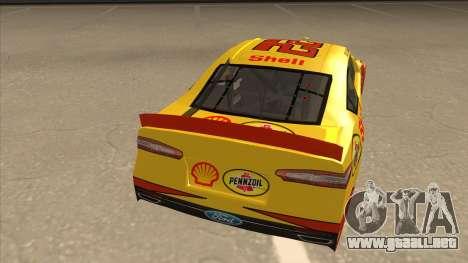 Ford Fusion NASCAR No. 22 Shell Pennzoil para la visión correcta GTA San Andreas