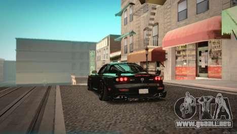 Mazda RX-7 STANCENATION para GTA San Andreas vista hacia atrás