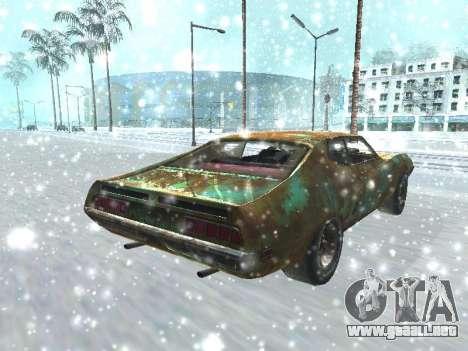 Ford Torino Rusty para GTA San Andreas vista posterior izquierda