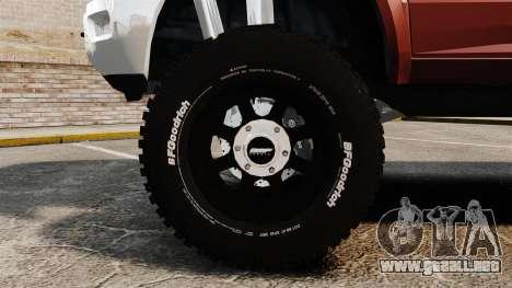 Dodge Ram 2500 Lifted Edition 2011 para GTA 4 vista hacia atrás