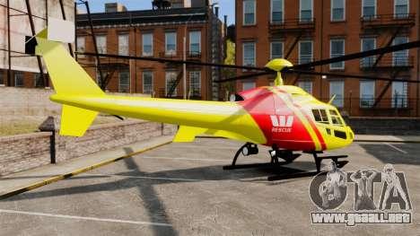 Westpac Rescue Australia para GTA 4 left