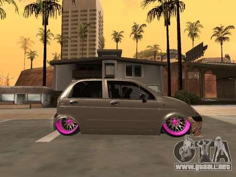 Daewoo Matiz Mexi Flush para GTA San Andreas left