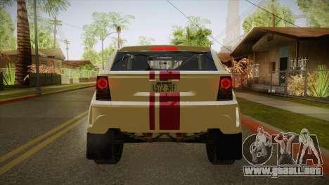 Bombín EXR S 2012 FIV & APT para GTA San Andreas vista hacia atrás