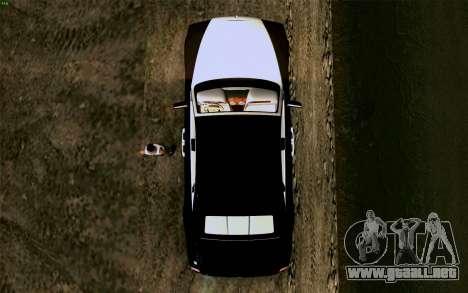 Rolls-Royce Ghost para GTA San Andreas vista hacia atrás