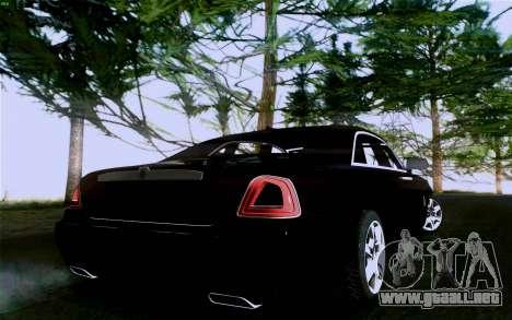 Rolls-Royce Ghost para visión interna GTA San Andreas