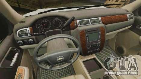 Chevrolet Tahoe Slicktop [ELS] v2 para GTA 4 vista hacia atrás
