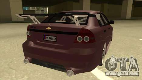 Chevrolet Aveo LT Tuning para la visión correcta GTA San Andreas