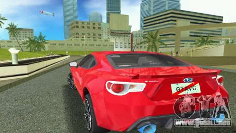 Subaru BRZ Type 1 para GTA Vice City vista posterior