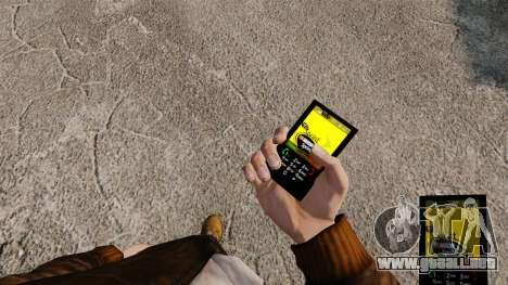 Temas para redes móviles de las marcas de teléfo para GTA 4 adelante de pantalla