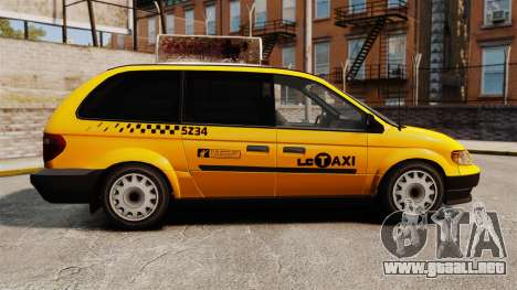 Dodge Grand Caravan 2005 Taxi LC para GTA 4 left