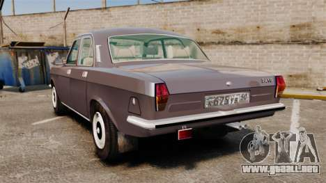 Volga GAZ-2410 v2 para GTA 4 Vista posterior izquierda