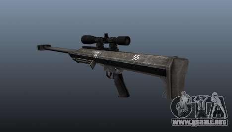 Rifle de francotirador Barrett M99 para GTA 4 segundos de pantalla