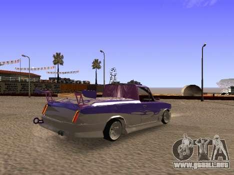 Vaz 2102 divertido flotar para GTA San Andreas vista posterior izquierda
