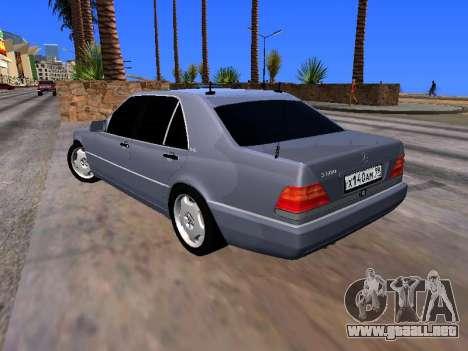 Mercedes-Benz S600 W140 para GTA San Andreas left
