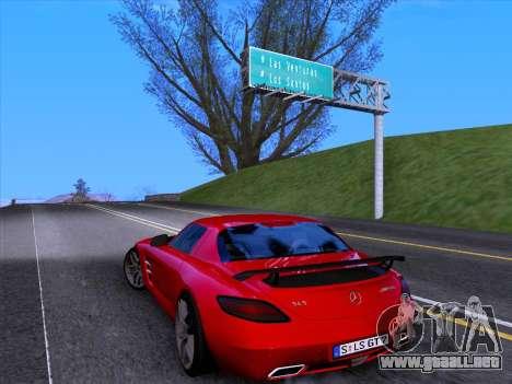 Mercedes-Benz SLS AMG GT 2014 Final Edition para visión interna GTA San Andreas