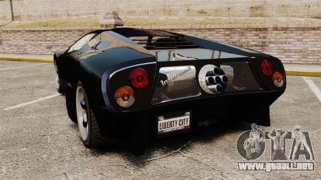 Infernus actualizados para GTA 4 Vista posterior izquierda